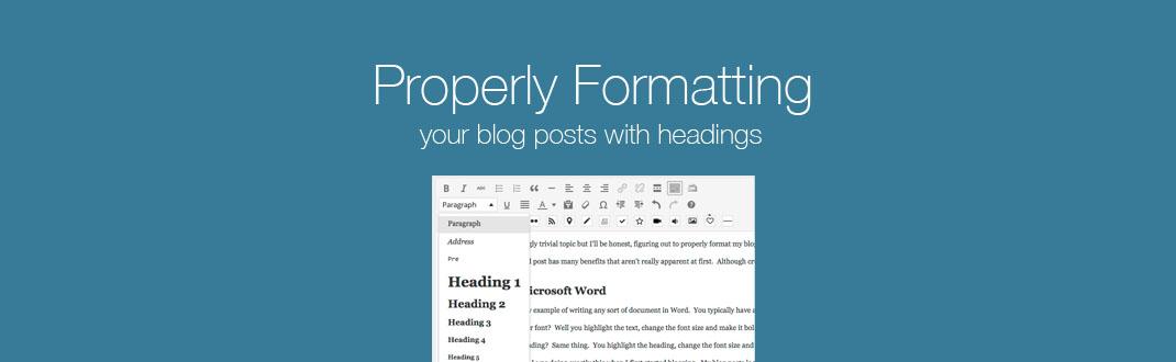 Content formatting