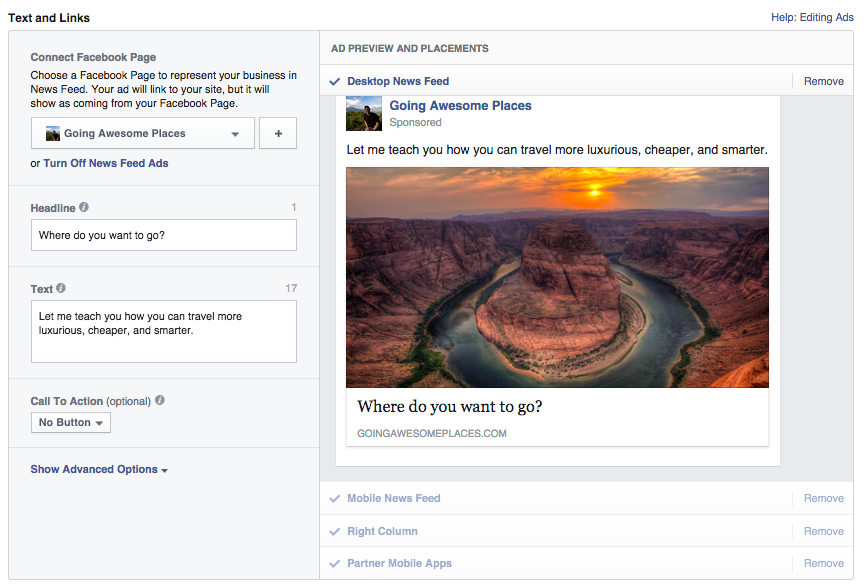 Facebook-Ad-Experiment-2-Text-Links