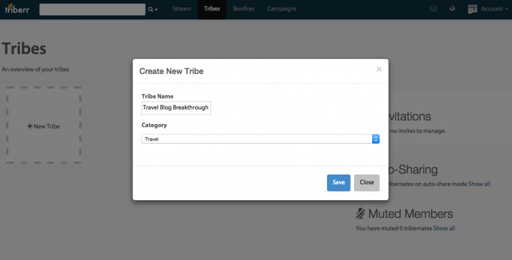 Triberr-Create-New-Tribe