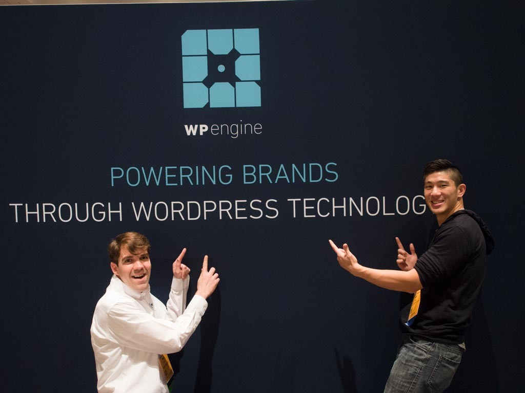Having a little fun with WP Engine at ASW15.