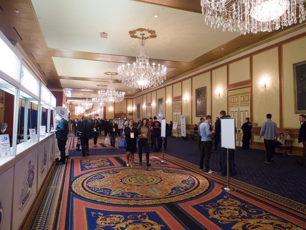 Hallways of ASW15 at Paris Las Vegas.