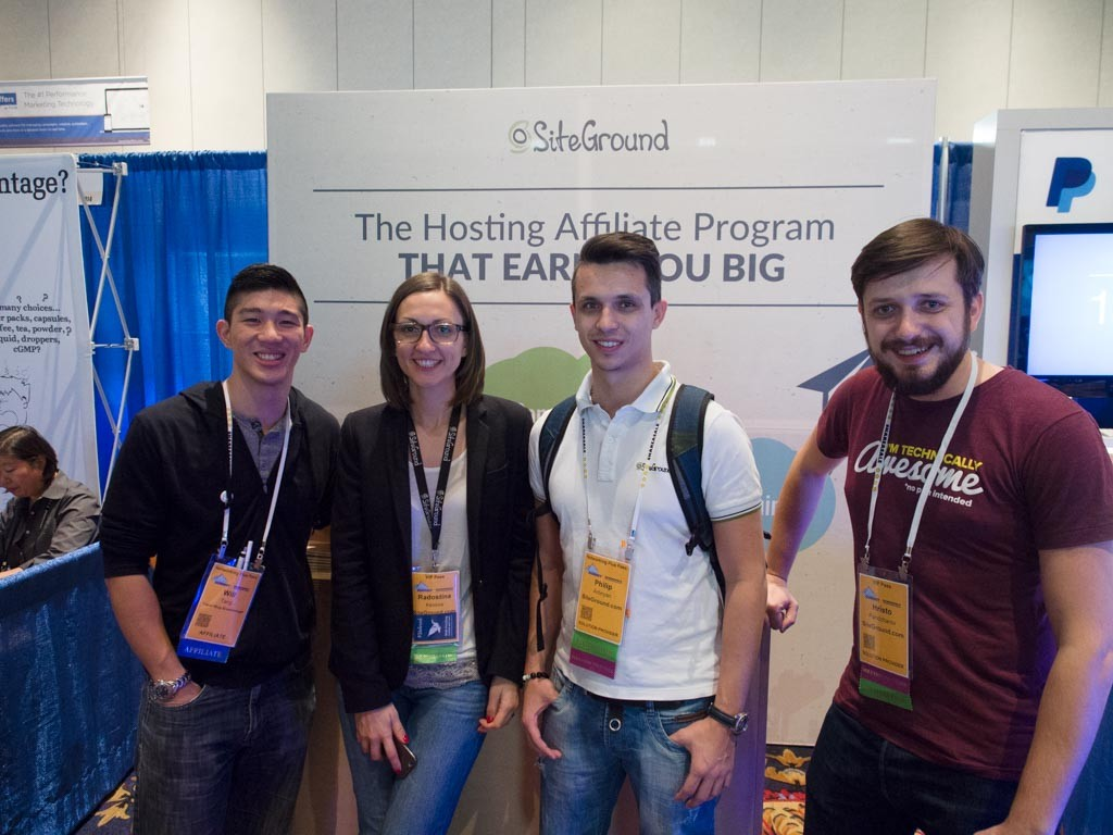 Hanging out with the Siteground family.