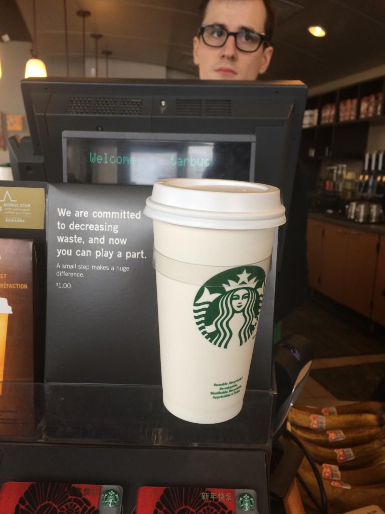 Starbucks $1 Reusable Coffee Cup
