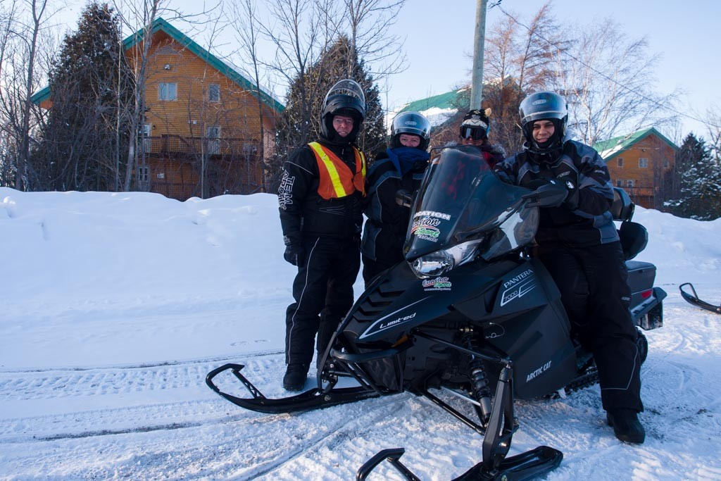 Snowmobiling in Saguenay