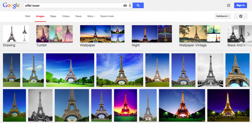 Build your shot list with Google Images