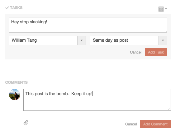 CoSchedule Tasks and Comments
