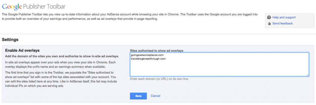 Google Publisher Tool Image Overlay