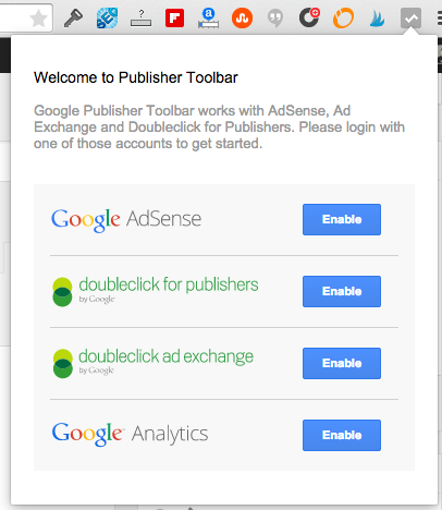 Google Publisher Toolbar Connect Account