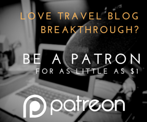 patreon ad for travel blog breakthrough