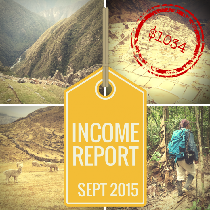September 2015 Income Report