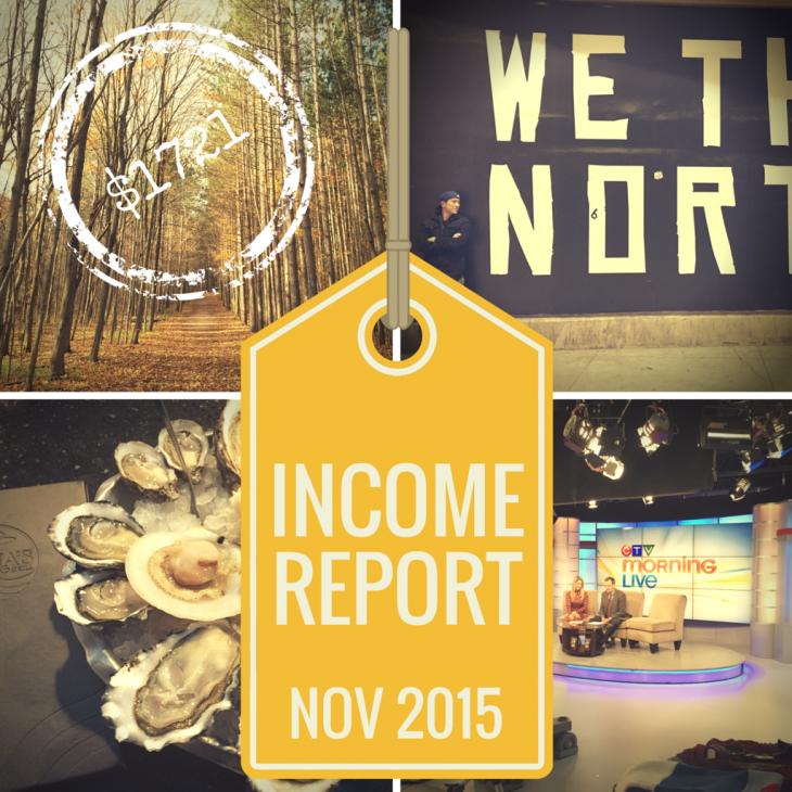 November 2015 Income Report